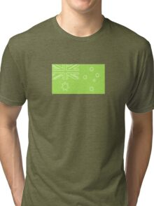aussie flag lime green Tri-blend T-Shirt