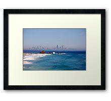 Surfers Strip Framed Print