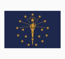 Indiana State Flag Indianapolis USA Bedspread T-Shirt Sticker One Piece - Short Sleeve