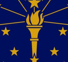 Indiana State Flag Indianapolis USA Bedspread T-Shirt Sticker Sticker