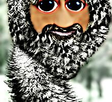 The newest member of the ostrich family, the Scottstrich (self portrait) by Scott Mitchell