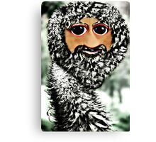 The newest member of the ostrich family, the Scottstrich (self portrait) Canvas Print