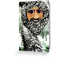 The newest member of the ostrich family, the Scottstrich (self portrait) Greeting Card