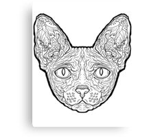 Sphynx Cat - Complicated Cats Canvas Print