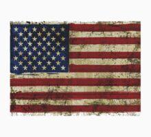 Grunge Flag Of US  One Piece - Long Sleeve