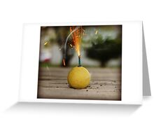 Smoke Bomb Greeting Card