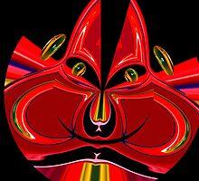 crazy red monkey by Wieslaw Jan Syposz