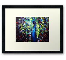 Peacock Painting Framed Print