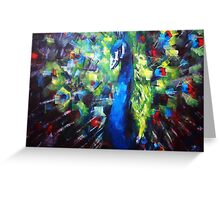 Peacock Painting Greeting Card