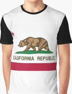 California USA State Flag Bedspread Duvet T-Shirt - Californian Sticker Graphic T-Shirt