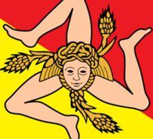 Sicilian Bandiera - Flag of Italian Island Sicily - T-Shirt Bedspread Sticker