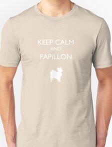 Keep Calm and Papillon Unisex T-Shirt