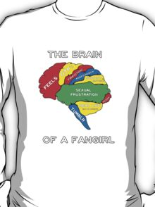 The Brain of a Fangirl T-Shirt