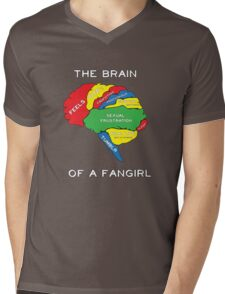 The Brain of a Fangirl Mens V-Neck T-Shirt