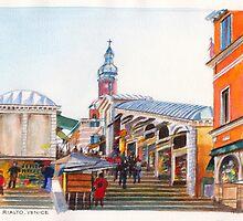 The Rialto Venice by Dai Wynn