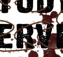Pray Study Serve: Thorns Sticker