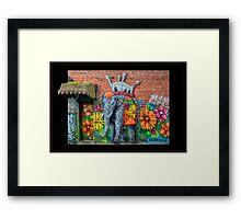 Flowerful Elephant Framed Print