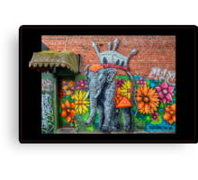 Flowerful Elephant Canvas Print