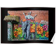 Flowerful Elephant Poster