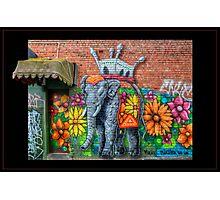 Flowerful Elephant Photographic Print