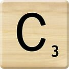 Scrabble Letter C by Scrabbler