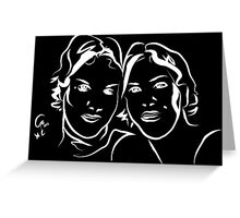 Portrait - twin sisters Greeting Card
