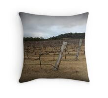 Winter Winery Throw Pillow