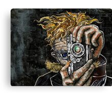 Retro Hipster Selfie II Canvas Print