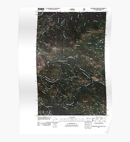 USGS Topo Map Washington State WA Independent Mountain 20110505 TM Poster