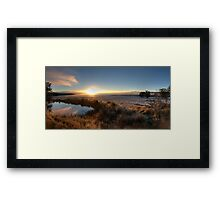McPhersons Plains Sunrise. Framed Print