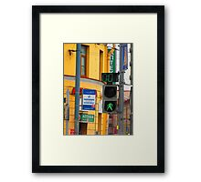 You Better Cross Quickly! Framed Print