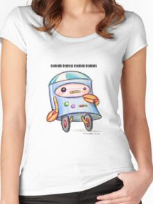 Robot Loves You Women's Fitted Scoop T-Shirt