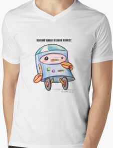 Robot Loves You Mens V-Neck T-Shirt