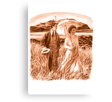 Edwardian Couple (sepia) Canvas Print