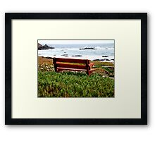 Seat For Two By The Sea Framed Print