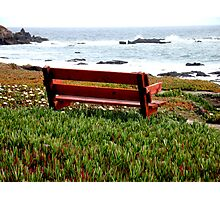 Seat For Two By The Sea Photographic Print