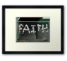 Faith Knows No Boundaries  Framed Print