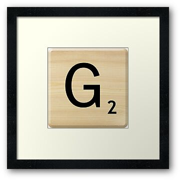 Scrabble Letter G by Scrabbler