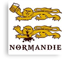 normandie lion normand Canvas Print