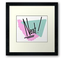 90s Neat Graphic Design Framed Print