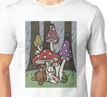 Teddy Bear And Bunny - Rainy Day Blues Unisex T-Shirt