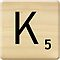 Scrabble Letter K by Scrabbler