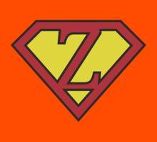 Z letter in Superman style Kids Tee