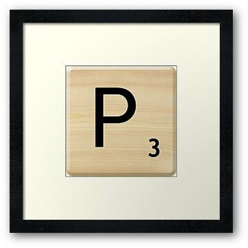 Scrabble Letter P by Scrabbler