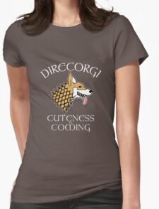 DireCorgi Dark Womens Fitted T-Shirt
