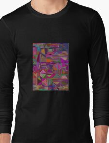 Purple Patches Long Sleeve T-Shirt
