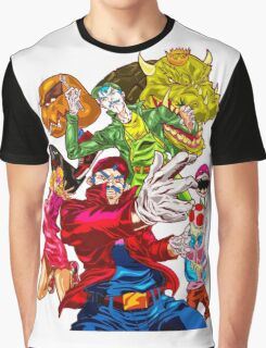 Street fighter Mario Graphic T-Shirt