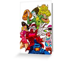 Street fighter Mario Greeting Card