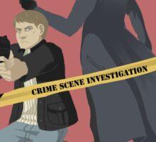Crime scene investigation square Sticker