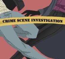 Crime scene investigation square 2 Sticker